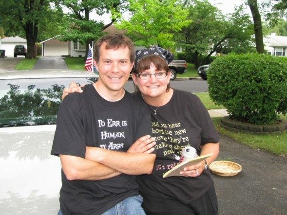 Hubby and me in pirate gear at the Hill Family Picnic  - Summer 2008
