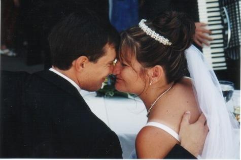 My favorite wedding photo... taken by my sister