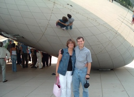 """At """"the Bean"""" in Chicago"""