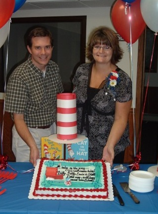 "At our ""Dr Seuss"" themed baby shower at our church"