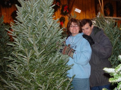 Hubby and I at the Williams' Tree Fram