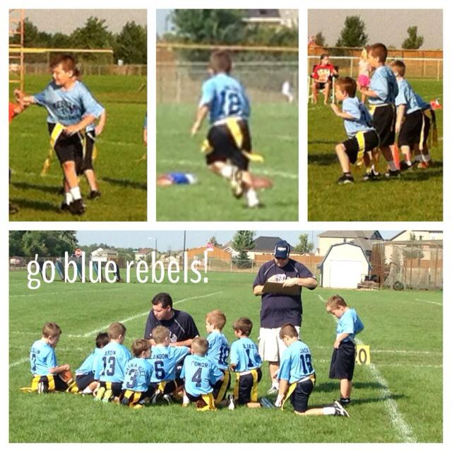 Punky is on the BLUE Rebel team this year!  Go Blue!