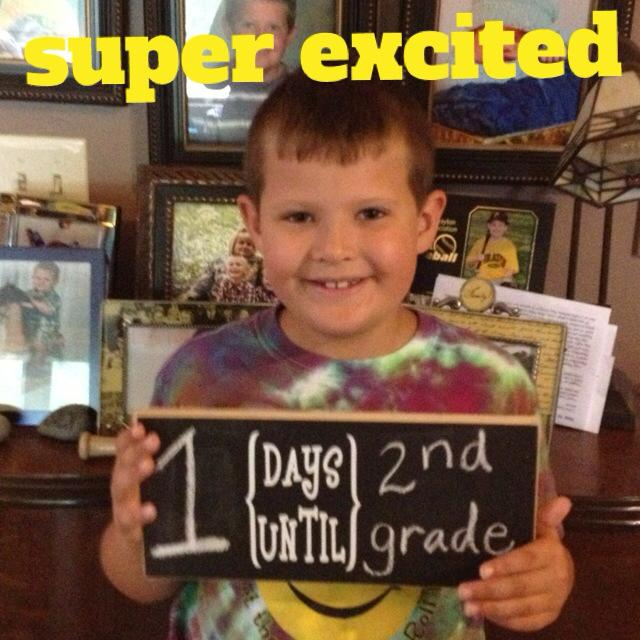 Punky is very excited for school!  He has a FABULOUS teacher!