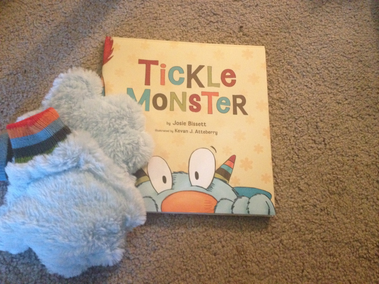 "All of the giggles from this fabulous book and mitts! Kirby LOVES the Tickle Monster...""Do it again!"""
