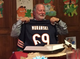 Dad opening up his early birthday present!