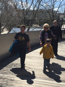 Walking to Maggie Daley Park