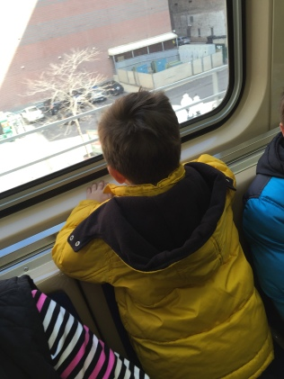 Can't you just see his face as he watched the scenery go by from the train...